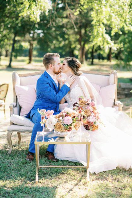 French Farmhouse Micro Wedding Inspiration North Texas Wedding Venue The French Farmhouse Venue North Texas Wedding Florist Haute Poppies Floral