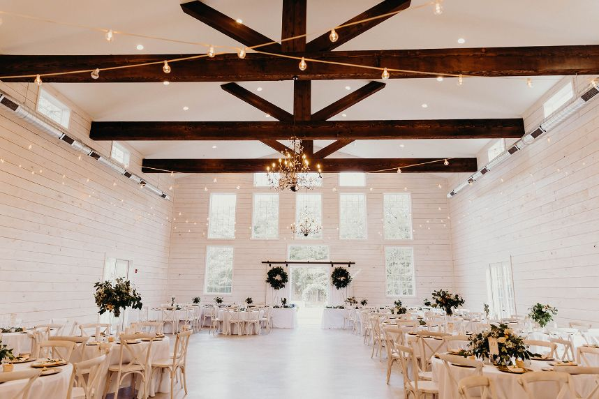 barn winter wedding venue