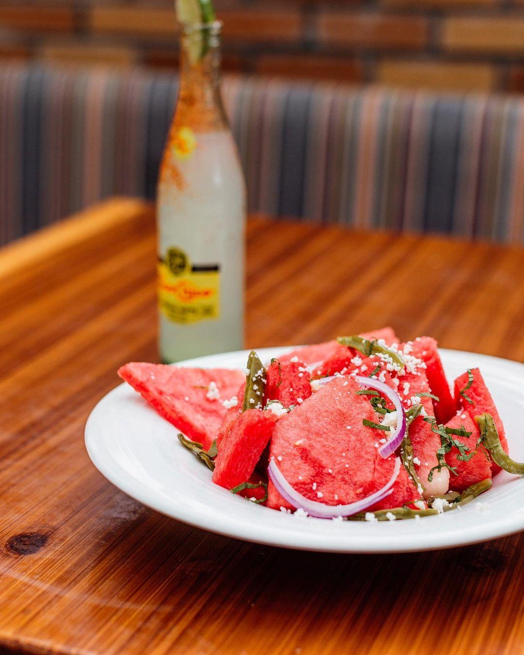 Vidorra seasonal watermelon salad