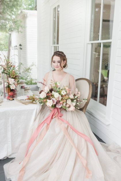 Elegant Edwardian Wedding Inspiration North Texas Wedding Venue Bingham House North Texas Wedding Florist Flowers Event Stems Floral Design