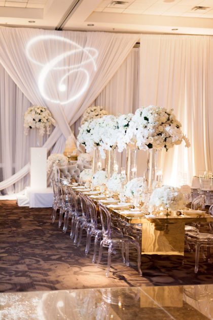 glam winter wedding