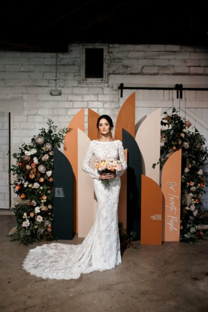 Color Block Cocktail Hour Inspiration North Texas Wedding Venue The Ostreum North Texas Wedding Photographer Laning Photography