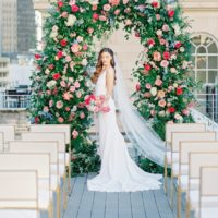 Chic Bold Cityscape Wedding Inspiration North Texas Wedding Planner Angela Marie Weddings and Events North Texas Wedding Photographer Rachel Elaine Photography