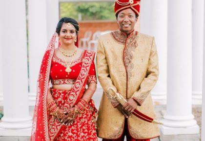 hindu wedding, Korean groom