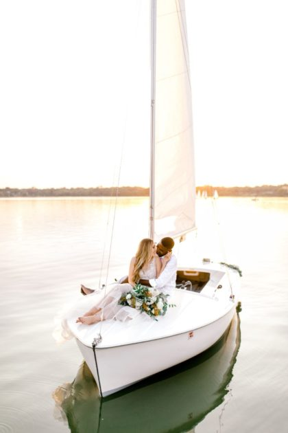 Sailboat Elopement Inspiration North Texas Wedding Florist Floral Design Must Like Flowers North Texas Wedding Beauty Tease to Please Hair and Makeup