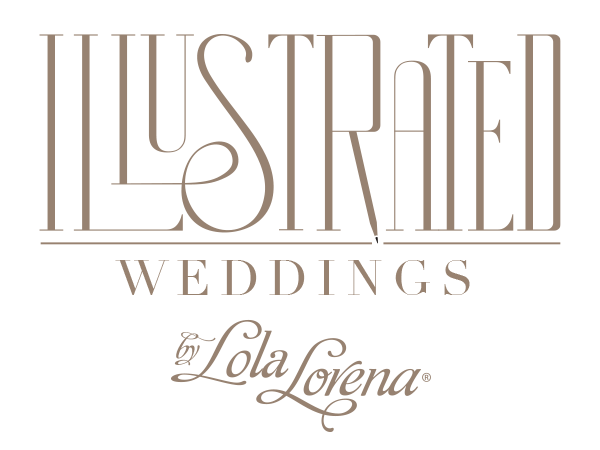 Illustrated Weddings by Lola Lorena Invitations